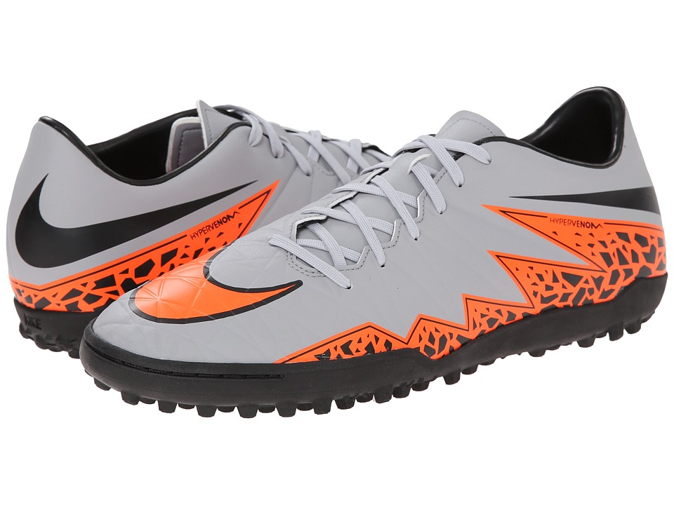 Nike - Hypervenom Phelon II TF (Wolf Grey/Total Orange/Black/Black) Men's Soccer Shoes