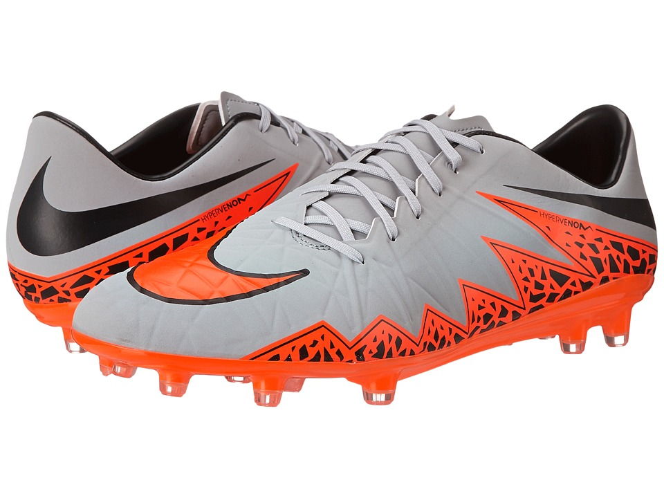 Nike - Hypervenom Phatal II FG (Wolf Grey/Total Orange/Black/Black) Men's Soccer Shoes