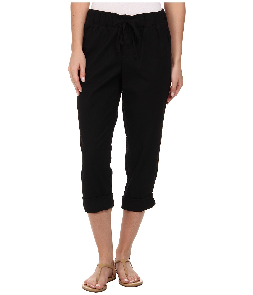 Dockers Misses - Linen Capri (Black) Women's Capri