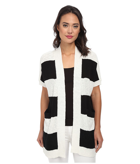 TWO by Vince Camuto - Long Striped Cardigan (New Ivory) Women's Sweater