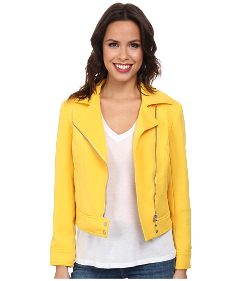 TWO by Vince Camuto - Boxy Asymmetric Scuba Jacket (Golden Ray) Women's Jacket
