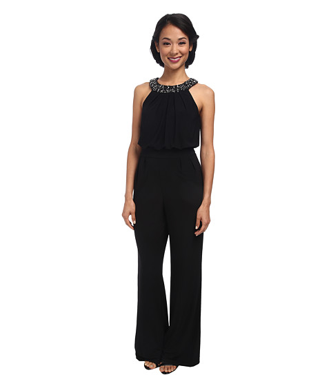 Vince Camuto - Ity Jumpsuit with Beaded Neck (Black) Women's Jumpsuit & Rompers One Piece