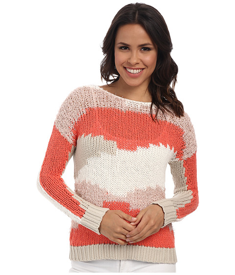 TWO by Vince Camuto - Mixed Yarn Intarsia Tunic (New Ivory) Women