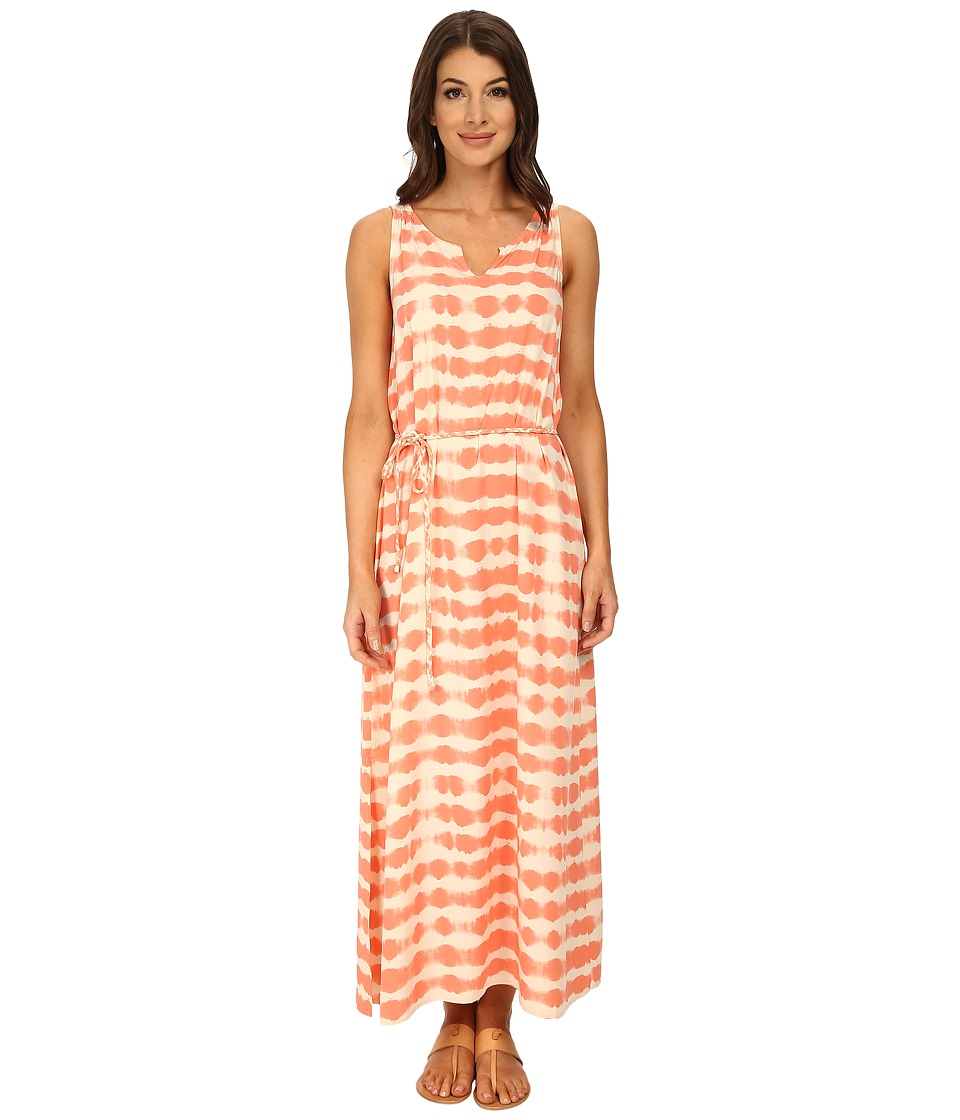TWO by Vince Camuto - Sunbaked Stripe Sleeveless Drawstring Maxi (Canyon Coral) Women
