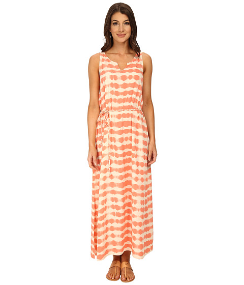 TWO by Vince Camuto - Sunbaked Stripe Sleeveless Drawstring Maxi (Canyon Coral) Women's Dress