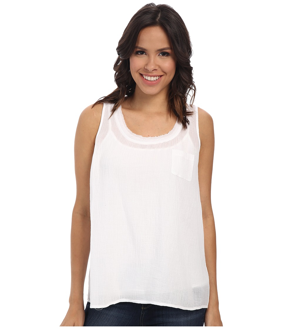 TWO by Vince Camuto - Sleeveless Solid One-Pocket Tank (Ultra White) Women's Sleeveless
