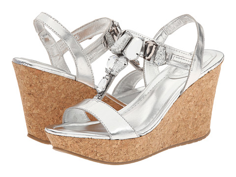 Kenneth Cole Reaction - Sole Lites (Silver) Women's Wedge Shoes