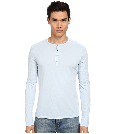 Vince - Pima Long Sleeve Henley (Blissful Blue) Men's Long Sleeve Pullover