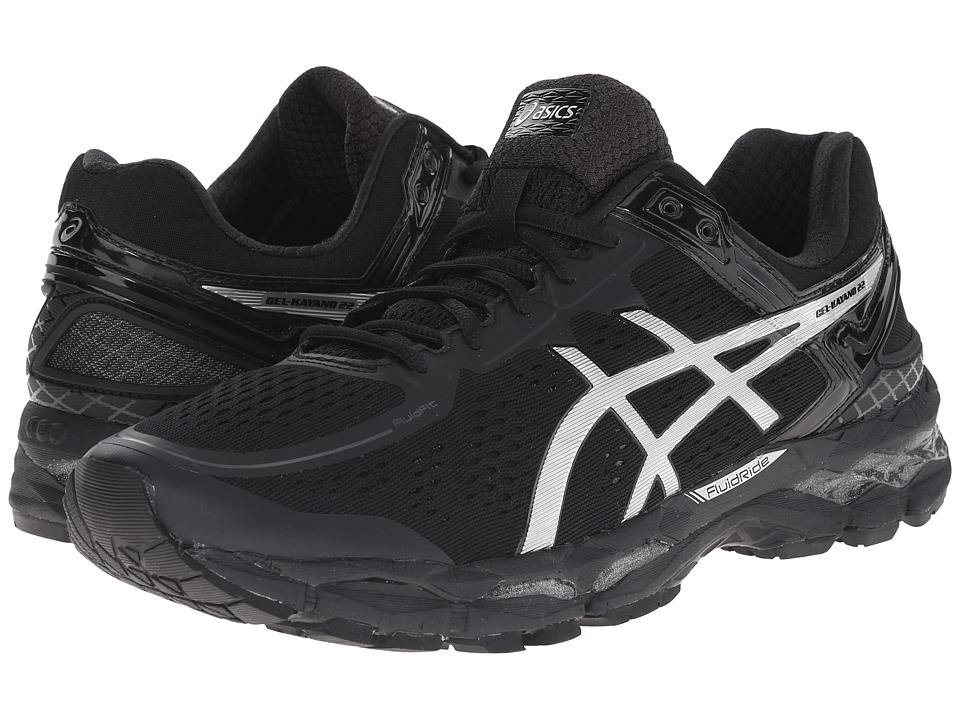 ASICS - GEL-Kayano 22 (Onyx/Silver/Charcoal) Men's Running Shoes