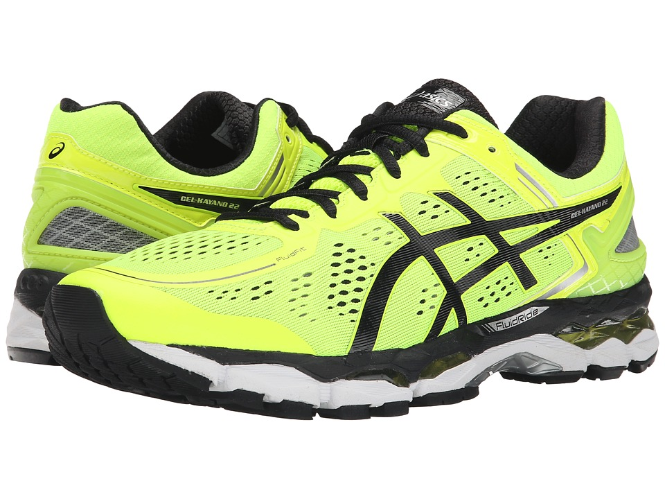 ASICS - GEL-Kayano 22 (Flash Yellow/Black/Silver) Men's Running Shoes