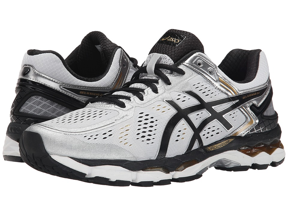 ASICS - GEL-Kayano 22 (Silver/Black/Gold) Men's Running Shoes