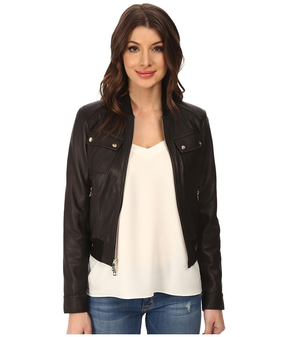 Cole Haan - 20 1/2 Bomber Jacket (Black) Women's Coat