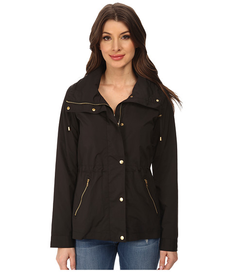 Cole Haan - 25 Nylon Rain Jacket (Black) Women's Coat