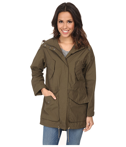 Cole Haan - 35 1/2 Oversized Hooded Boyfriend Parka (Ivy) Women's Coat