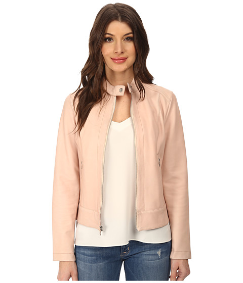 Cole Haan - 21 Stretch Sing Breasted Moto Jacket (Seashell) Women