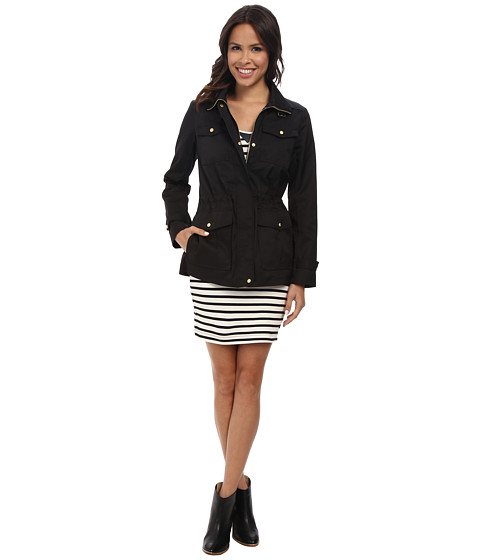 Cole Haan - 28 Single Breasted Military Jacket (Black) Women