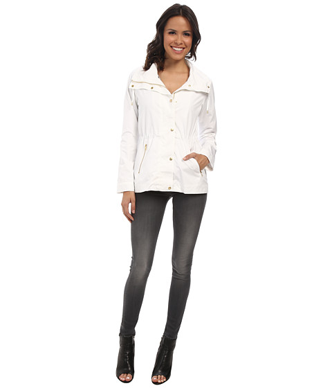 Cole Haan - 25 Nylon Rain Jacket (Optic White) Women's Coat