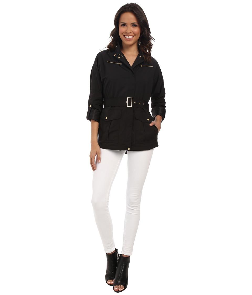 Cole Haan - 30 Dolman Sleeve Raincoat (Black) Women