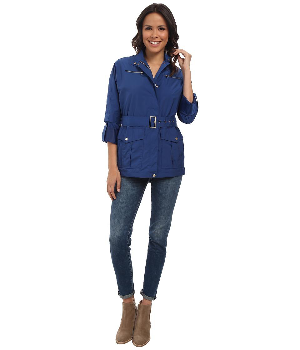 Cole Haan - 30 Dolman Sleeve Raincoat (French Blue) Women's Coat