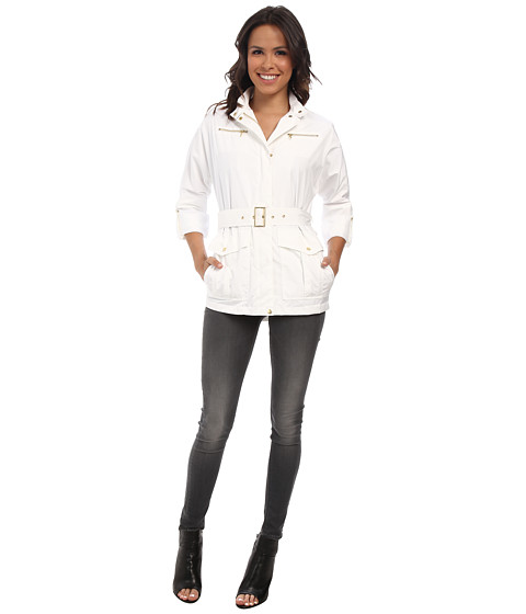 Cole Haan - 30 Dolman Sleeve Raincoat (Optic White) Women's Coat