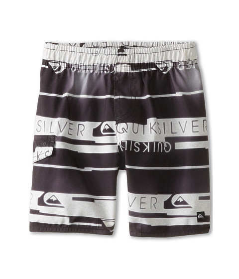 Quiksilver Kids - Wordmark Volley Short (Toddler) (Black) Boy's Swimwear