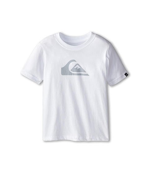 Quiksilver Kids - Everyday Logo Core Tee (Toddler/Little Kids) (White) Boy's T Shirt