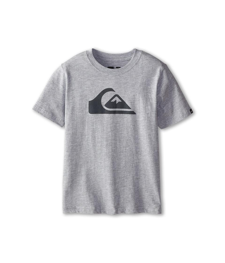 Quiksilver Kids - Everyday Logo Core Tee (Toddler/Little Kids) (Grey Heather) Boy's T Shirt