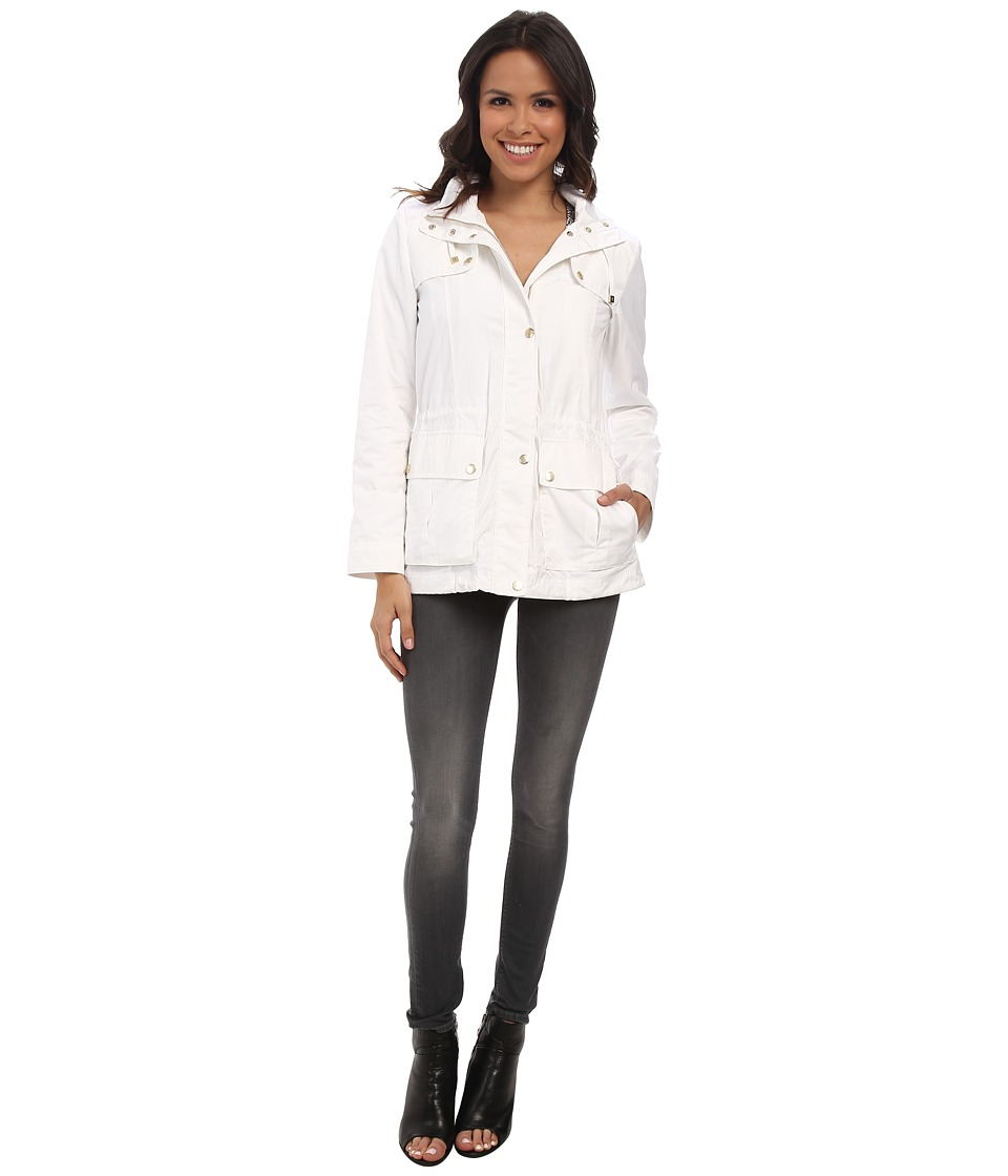 Cole Haan - 28 Parka Rain Jacket w/ Removable Hood (Optic White) Women