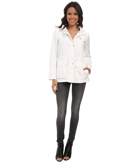 Cole Haan - 28 Parka Rain Jacket w/ Removable Hood (Optic White) Women