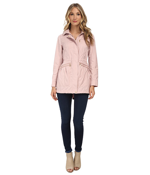 Cole Haan - 34 Single Breasted Rain Jacket (Spring Rose) Women