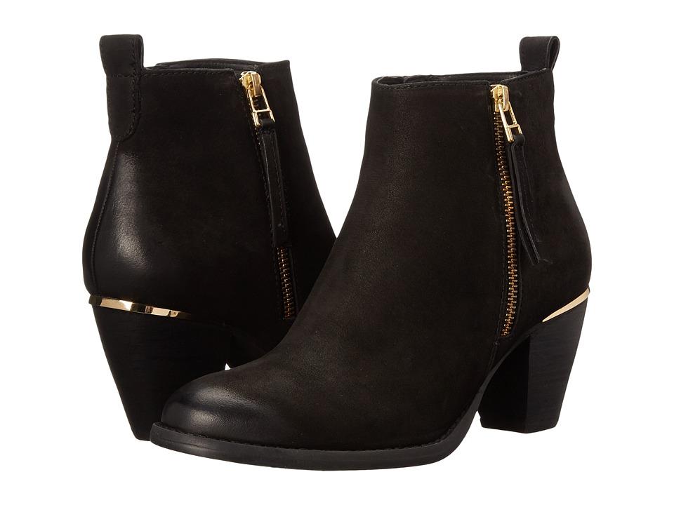 Steve Madden - Wantagh (Black Leather) Women's Dress Zip Boots