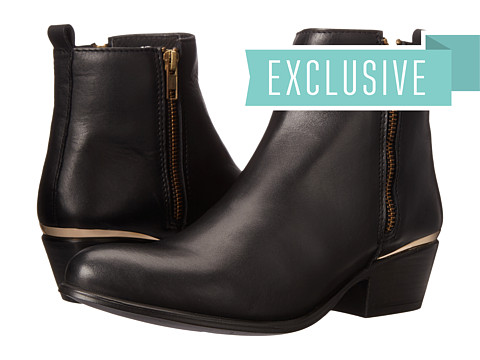 Steve Madden - Exclusive - November (Black Leather) Women's Dress Zip Boots