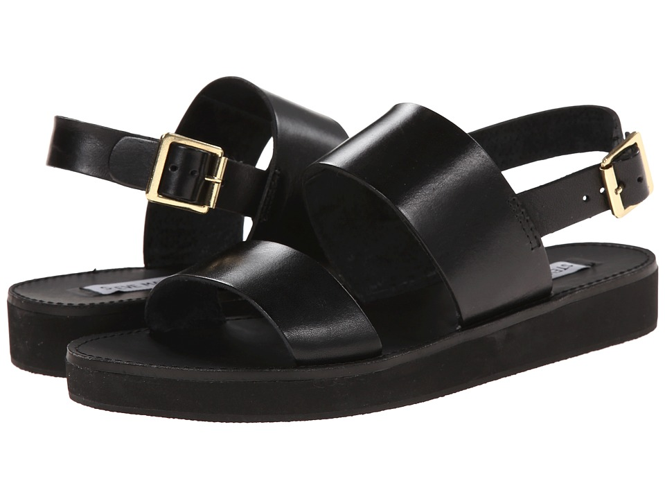 Steve Madden - Orka (Black Leather) Women's Sandals