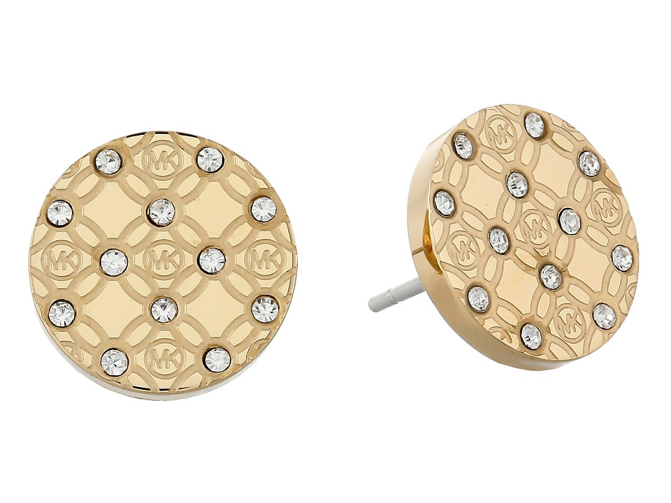 Michael Kors - Monogram Stud Earrings (Gold) Earring