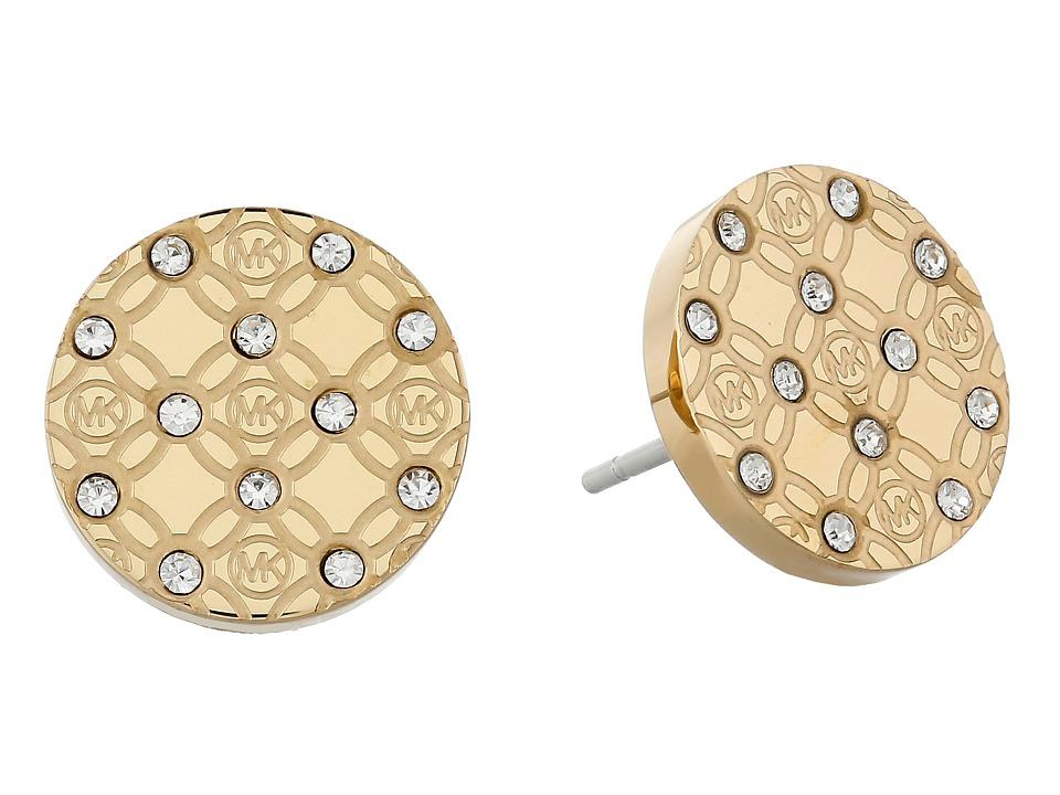 Michael Kors - Monogram Stud Earrings (Gold) Earring