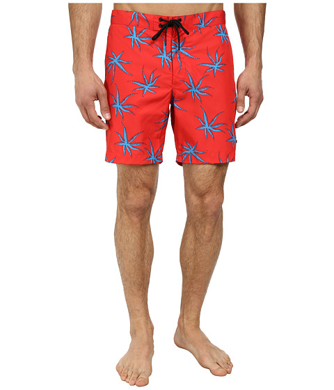 Marc by Marc Jacobs - Palm Print Swim (Electric Red Multi) Men