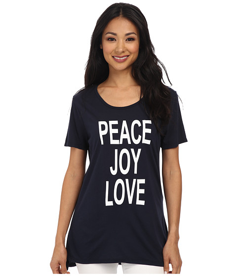 CJ by Cookie Johnson - Basic High-Low Tee (Navy) Women