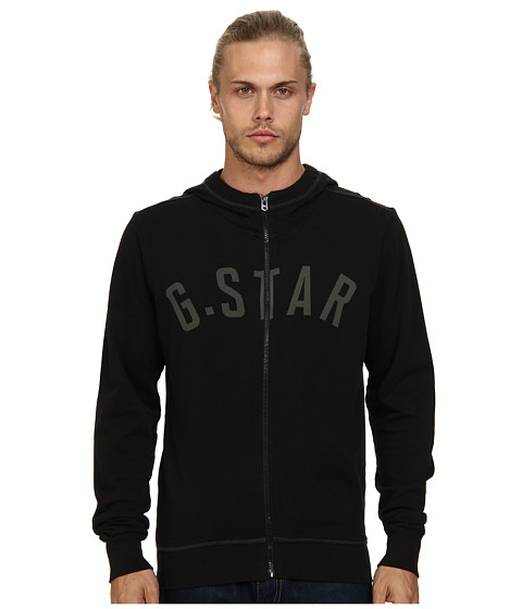 G-Star - Fenster Hooded Vest Sweater (Black) Men's Sweatshirt