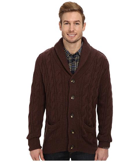 J.A.C.H.S. Shawl Cardigan (Brown) Men's Sweater