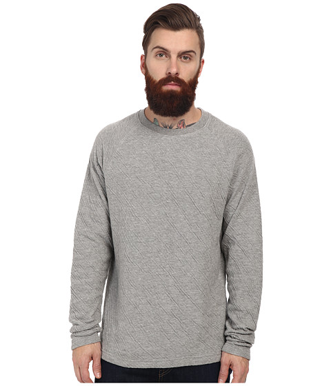 J.A.C.H.S. - Crew Neck Long Sleeve Knit (Dark Grey) Men's Clothing