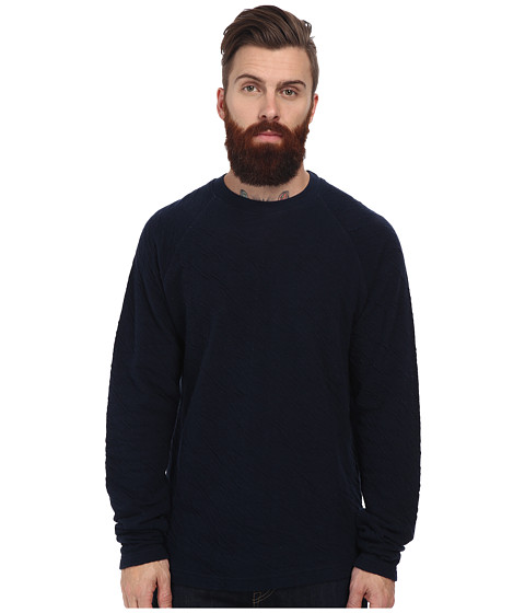 J.A.C.H.S. - Crew Neck Long Sleeve Knit (Iris) Men's Clothing