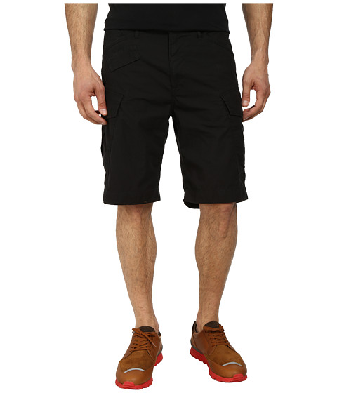 G-Star - Recroft Tapered 1/2 Short (Combat Ripstop Black) Men's Shorts