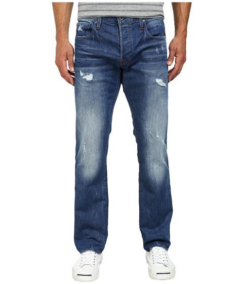 G-Star - Attac Slim Straight in Denim Light Aged Destroy (Accel Denim Light Aged Destroy) Men's Jeans