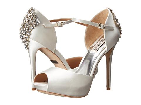 Badgley Mischka - Gene (White Satin) High Heels