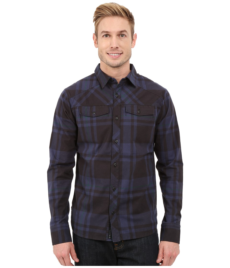 Black Diamond - Long Sleeve Stretch Technician Shirt (Captain/Black Plaid) Men's Clothing