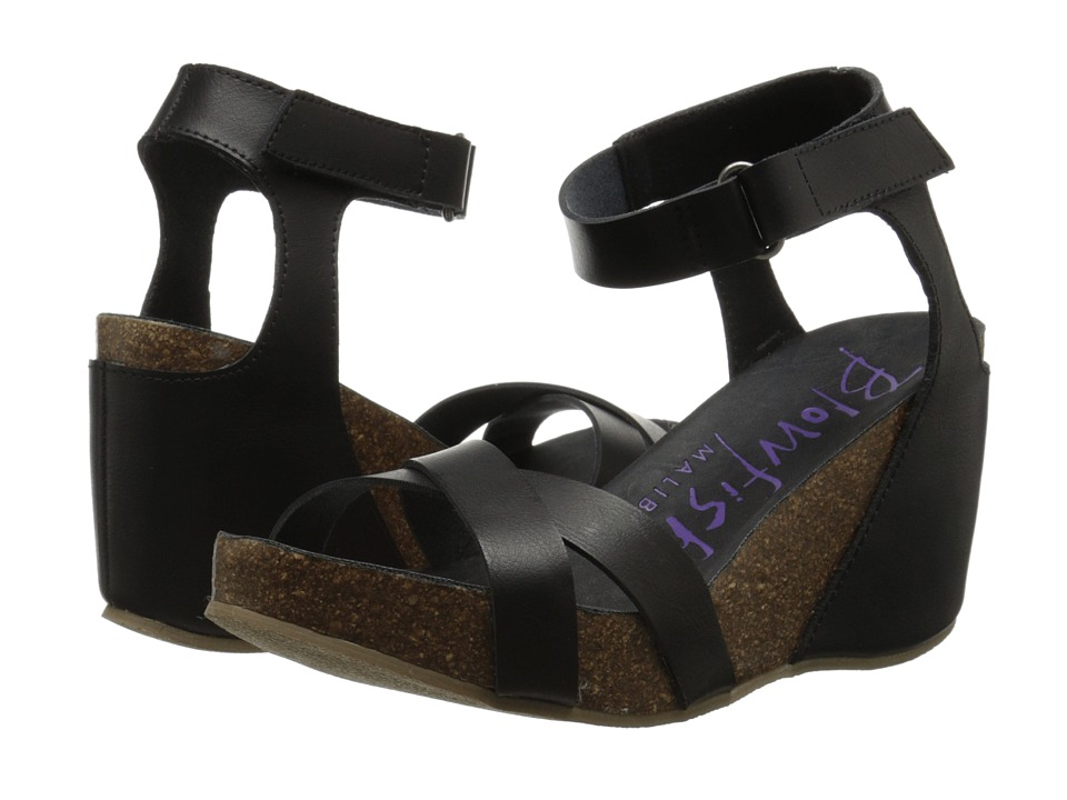 Blowfish - Hippy (Black Pisa Pu) Women's Sling Back Shoes