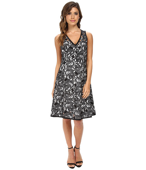 Nanette Lepore - Mi Amor Sheath (Black/White) Women's Dress