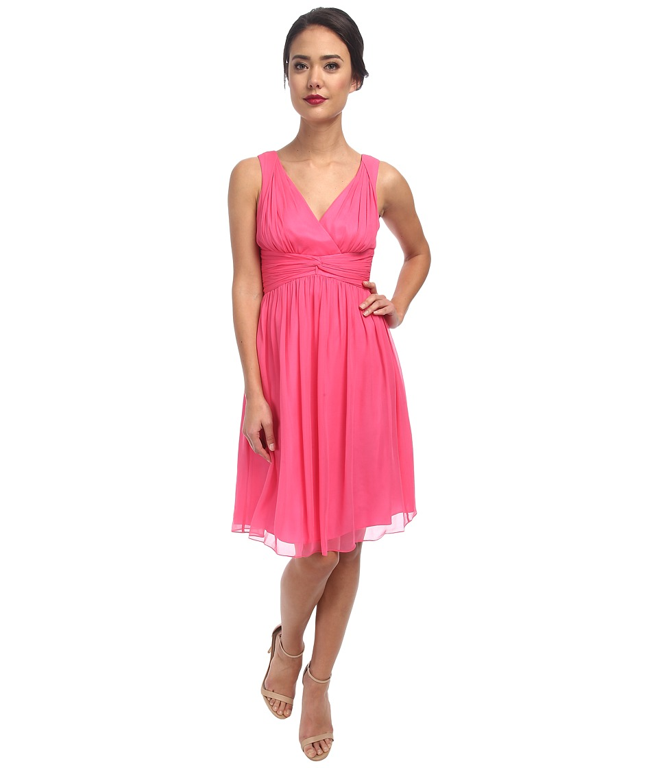 Donna Morgan - Jessie Silk Chiffon Dress (Strawberry) Women's Dress