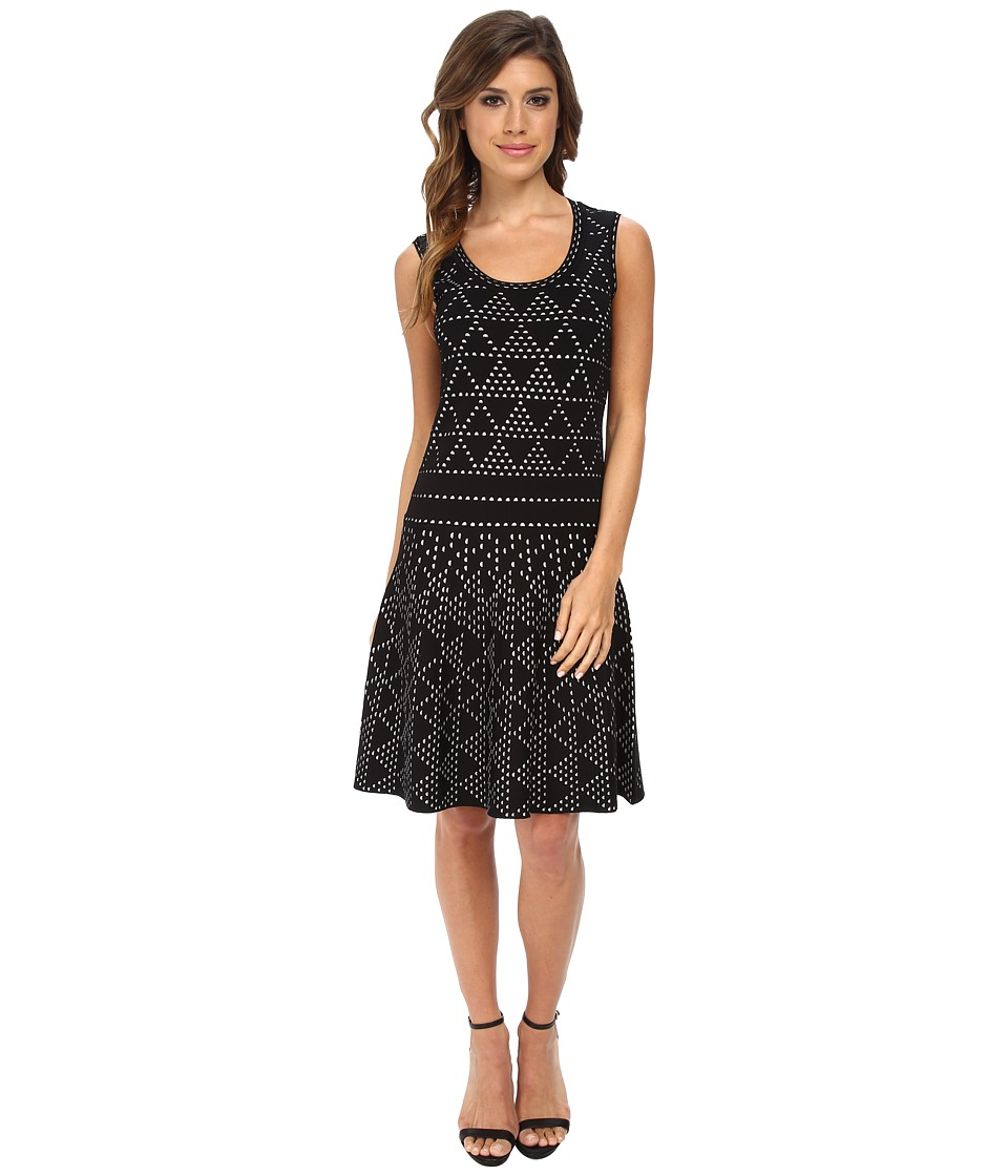Nanette Lepore - Diamond Dazzle Dress (Black/White) Women's Dress