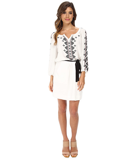 Nanette Lepore - Mariachi Sheath (White/Black) Women